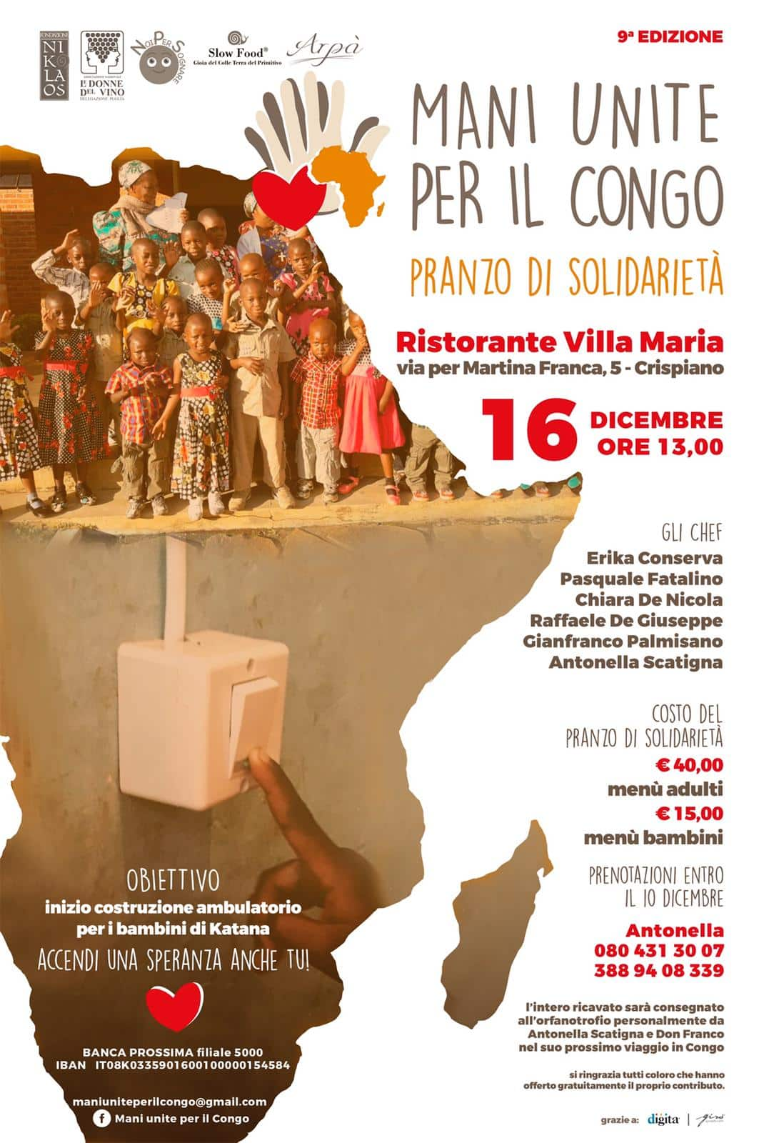 Mani unite per il Congo